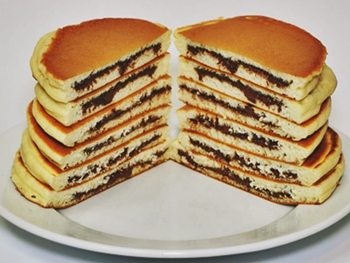 hot cakes rellenos de nutella